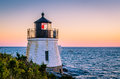 Sunset - Castle Hill Lighthouse - Newport RI Royalty Free Stock Photo