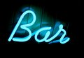 Lit Neon Bar Sign Royalty Free Stock Image