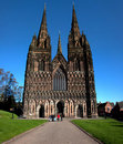 Litchfield Cathedral Royalty Free Stock Photos