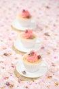 Litchi rose cupcakes Immagine Stock Libera da Diritti