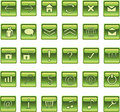 Lite Green Square web icons, buttons Royalty Free Stock Photo