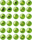 Lite Green web icons, buttons Stock Image