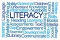 Literacy Word Cloud Royalty Free Stock Photo