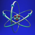 Lithium atom Royalty Free Stock Photo