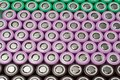 Lithium ion 18650 batteries Royalty Free Stock Photo