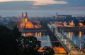Lithuania kaunas old town in the fog view from aleksotas hill Royalty Free Stock Photos