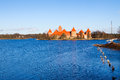 Lithuania, Trakai: view of the medieval castle Royalty Free Stock Image
