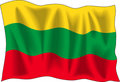 Lithuanian flag Royalty Free Stock Photo