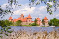 Lithuanian history heart - Trakai castle Royalty Free Stock Photos