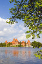 Lithuanian medieval castle trakai on galve lake Stock Photo