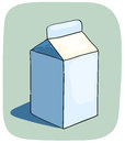 Litle milk box. Stock Images