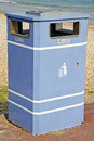 Litter bin a located by the beach at weymouth dorset uk Royalty Free Stock Image
