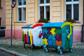 Litter bins the painted in tabor south bohemia czech republic Stock Photos