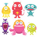 Litter monsters set a vector illustration of cute fish monster collection Stock Images