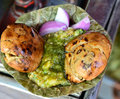 Litti chokha is from bihar and eastern uttar pradesh also know as bati elsewhere in india can be enjoyed with a type of Stock Photos