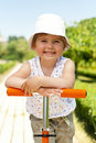Little adorable gir  in the park Royalty Free Stock Photo