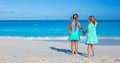 Little adorable girls enjoy summer beach vacation Royalty Free Stock Photo