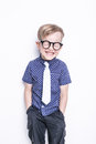 Little Adorable Kid In Tie And...