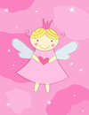 Little angel greeting card Royalty Free Stock Photography