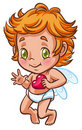 Little angel holding heart in hand Royalty Free Stock Photos