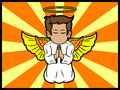Little angel praying Royalty Free Stock Image