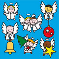 Little angels 2 blue Royalty Free Stock Images