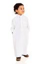 Little arabian boy isolated on white background Royalty Free Stock Photos