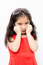 Little Asian child sadness feeling Royalty Free Stock Photo