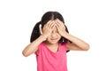 Little asian girl got sick and headache Royalty Free Stock Photo