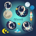 Little Astronauts playing in space