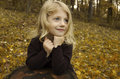 Little Autumn Girl Stock Image