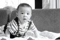 Little Baby Boy,portrait Of Ad...