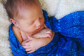 Little baby boy portrait of a sleeping peacefully Royalty Free Stock Photography