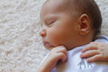Little baby boy portrait of a sleeping peacefully Stock Images