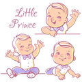 Little baby boy set. Royalty Free Stock Photo