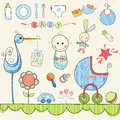 Little Baby Doodles Royalty Free Stock Photo