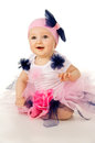 Little baby in a fairy costume happy kid Royalty Free Stock Photo