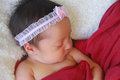 Little baby girl portrait of a sleeping peacefully Royalty Free Stock Photography