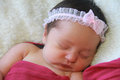 Little baby girl portrait of a sleeping peacefully Royalty Free Stock Images