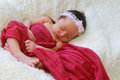 Little baby girl portrait of a sleeping peacefully Royalty Free Stock Photo
