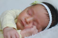 Little baby girl portrait of a sleeping peacefully Stock Image