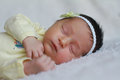 Little baby girl portrait of a sleeping peacefully Royalty Free Stock Photos