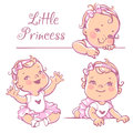 Little baby girl set. Royalty Free Stock Photo