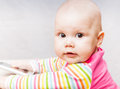 Little baby with mobile phone Royalty Free Stock Image