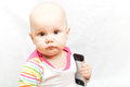 Little baby with mobile phone Stock Photography