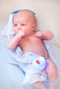 Little baby taking bath in bathtub Royalty Free Stock Photos