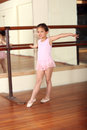 Little ballerina cute girl practicing her ballet Royalty Free Stock Image
