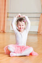 Little ballerina dance Stock Images