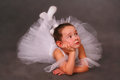 Little ballerina girl dressed as Royalty Free Stock Image