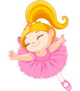 Little ballerina happy in ballet jump Royalty Free Stock Image